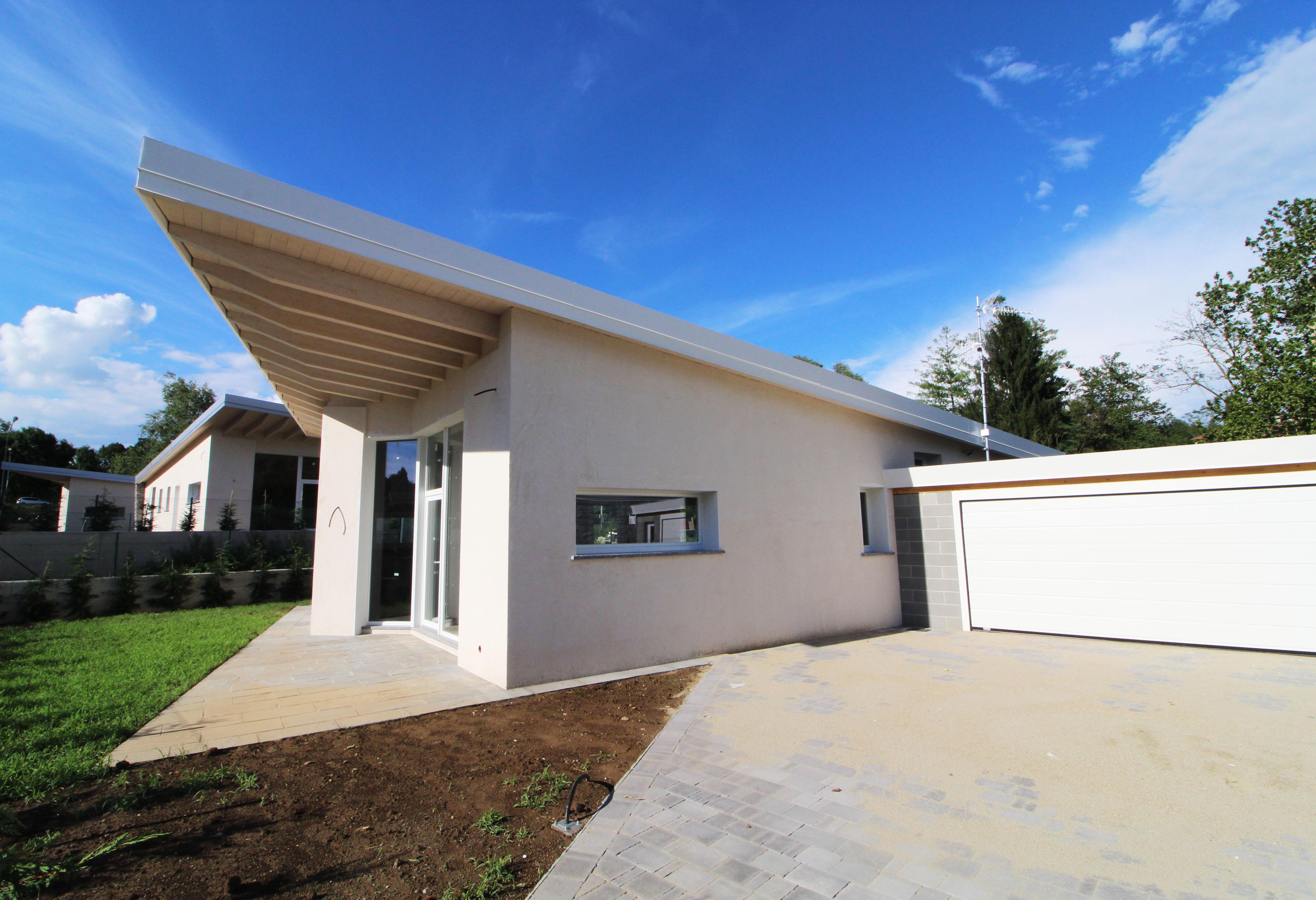 Villa moderna su unico piano nuova costruzione for Progetto ville moderne nuova costruzione