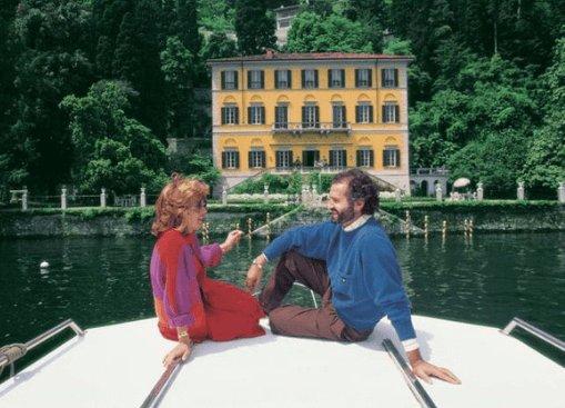 Gianni Versace a Villa Fontanelle - lago di Como