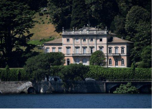villa del Grumello dal lago di Como