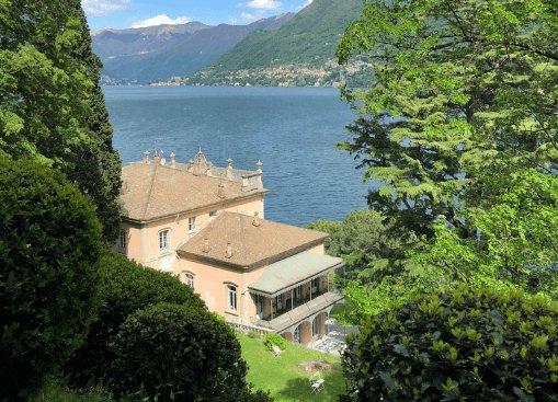 Villa del Grumello vista lago
